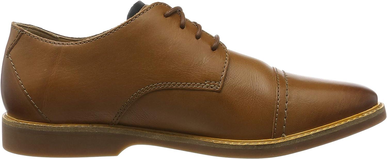 Clarks Herren Atticus Cap Derbys Braun Tan Leather Tan Leather