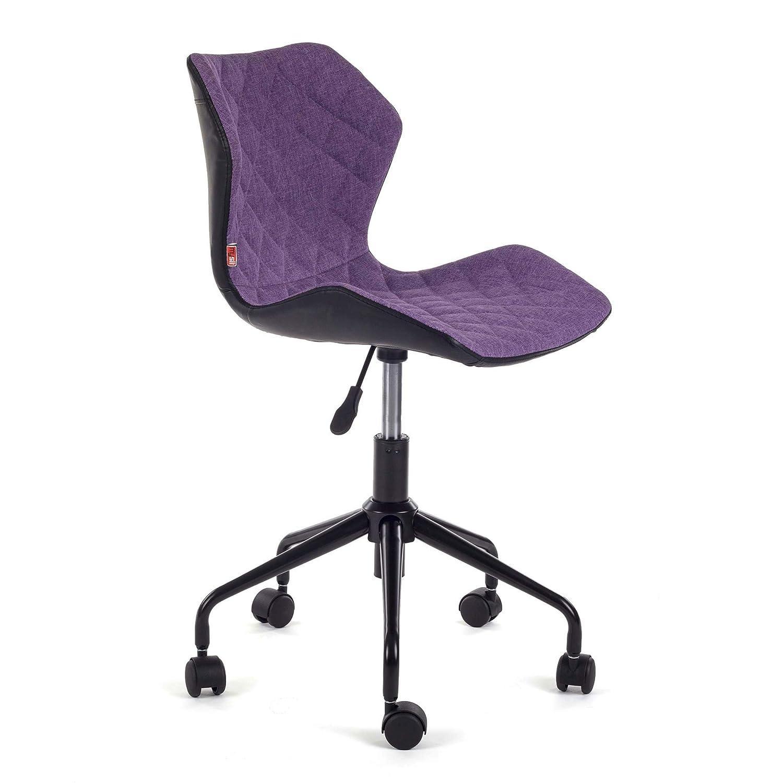 MY SIT Silla de Oficina giratoria Escritorio Taburete Altura Ajustable Cuero sintético sillón diseño Silla Nuevo INO Negro/Gris