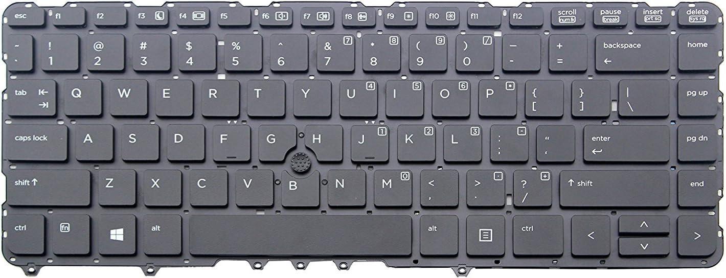 Genuine Original New US Black HP EliteBook 840 G1 850 G1 Keyboard Without Frame