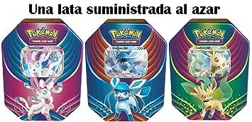Pokemon JCC POTB1803 - Lata metálica Celebración de Evolución - Español, Multicolor (1 Caja al Azar)
