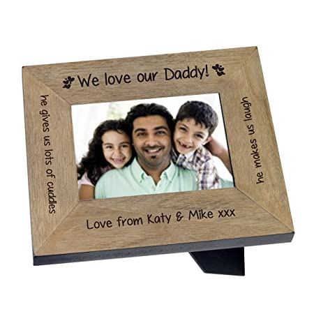 Marco de fotos de madera personaliseitonline padre especial ...