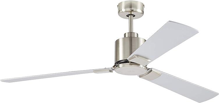 Amazon Brand Rivet Modern Cylindrical 3 Blade Flush Mount Ceiling Fan 43 X 43 X 12 5 Inches Brushed Nickel Alt180510 Amazon Com