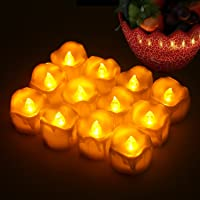 Candle Lights, FVTLED 12Pcs Flameless LED Timing Tea Light Candles Warm White Flickering Bulb Light Tealights with Timer Battery Included for Wedding Christmas Valentine and Home Party Gift