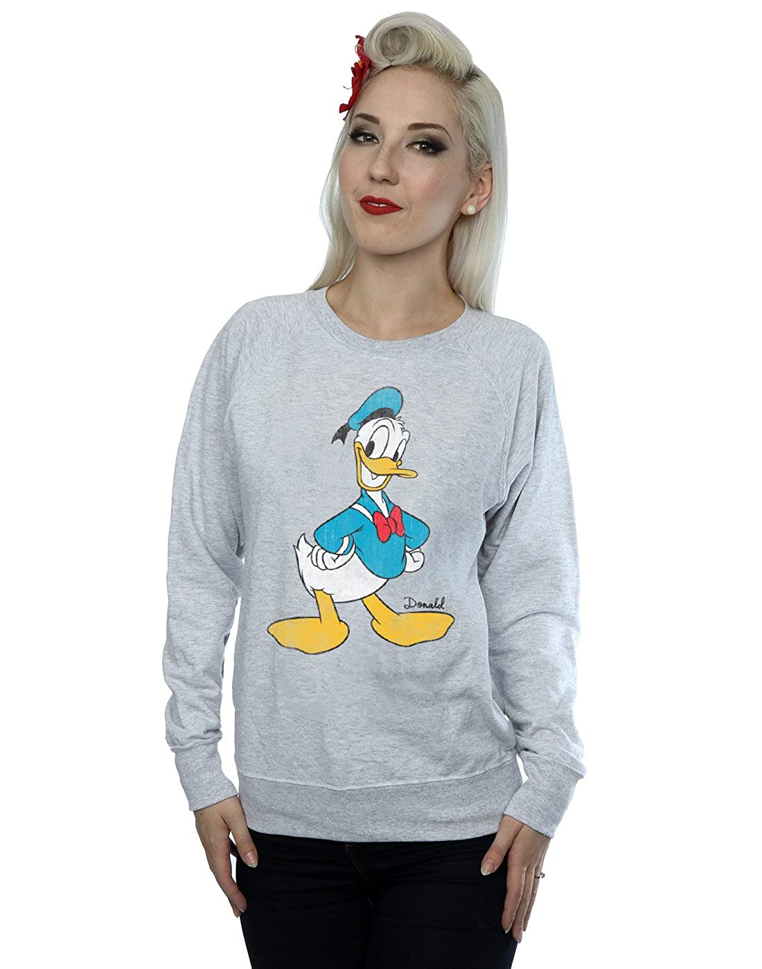 TALLA XXL. Disney mujer Mickey Mouse Classic Donald Duck Camisa De Entrenamiento