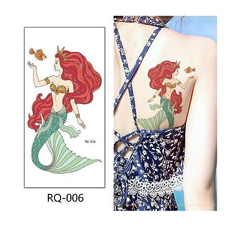 adgkitb 4 Piezas Sirena Tatuaje Temporal Pegatina Tatuaje Falso ...
