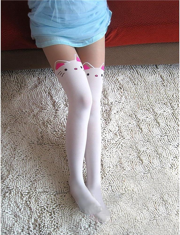 Mujer-Mallas tatuaje mignon rodilla diseño de gatos bajo punto ...