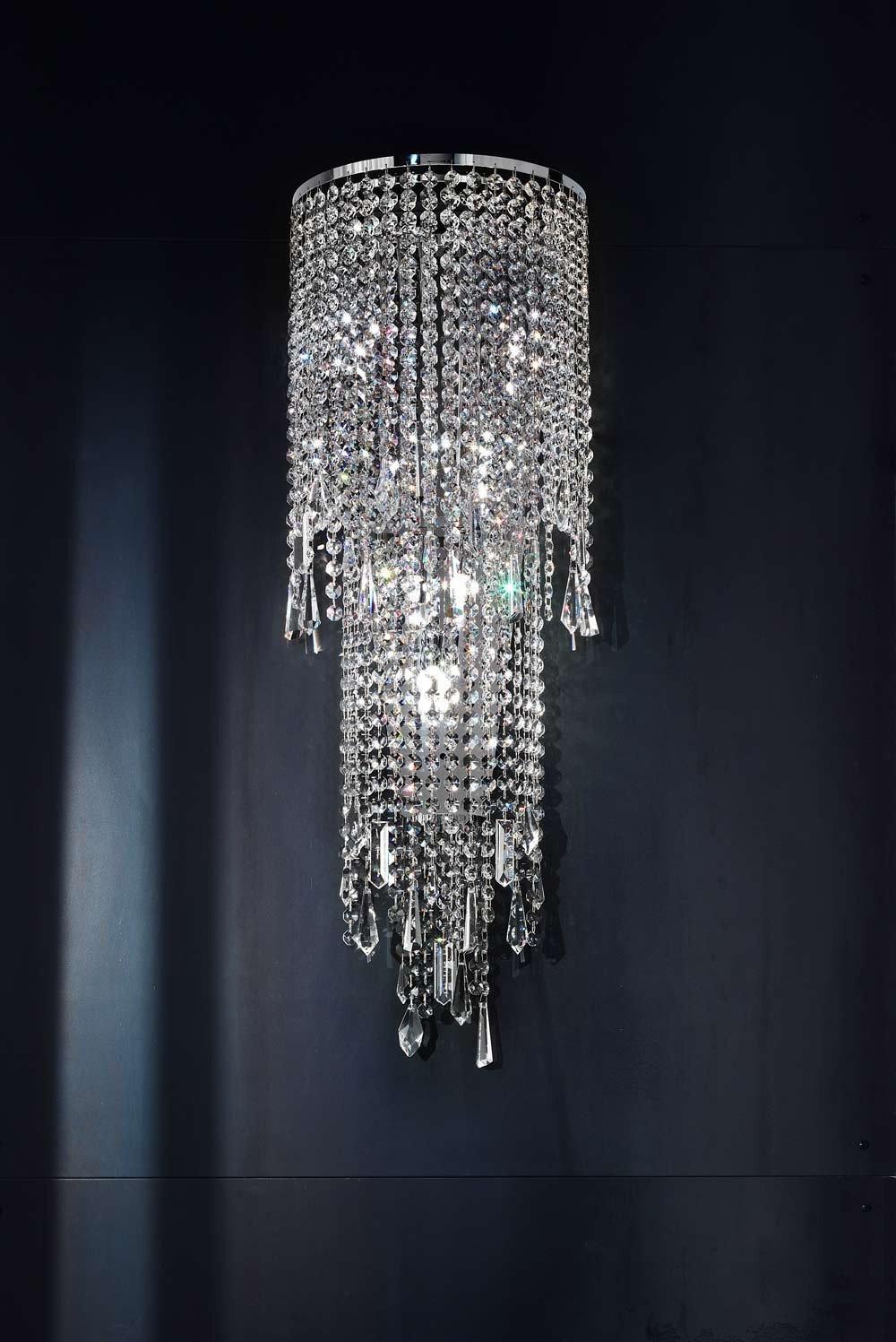 masiero lámpara de pared Deco cromo a mano, Made in Italy, Gesc hliffenes Italiano de cristal
