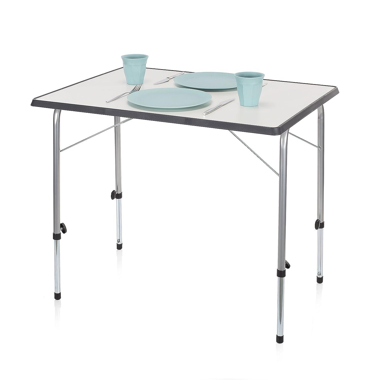 Campart Campingtisch/ Reisetisch - 80 x 60 cm wetterBesteändige Rolltischfläche/ höhenverstellbar/ einfach auf- und zusammenklappbar, TA-0831