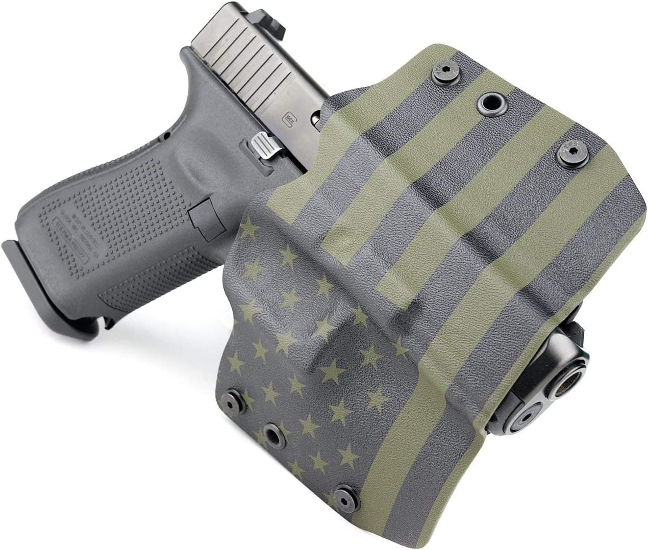 OWB Kydex Holster Eagle On Flag for GLOCK Handguns
