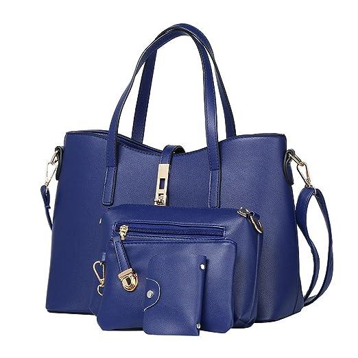Amazon.com: 4pcs Set Hurrybuy Women Handbags Tote Bag Shoulder Bag Handle Satchel Purse: Clothing