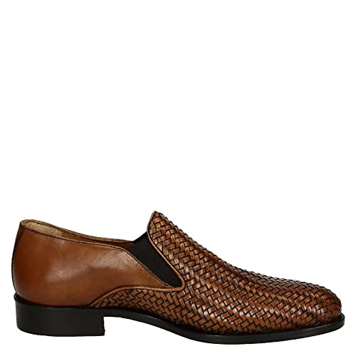 Men's 07116FORMA40METISSE2CUOIO Brown Leather Loafers