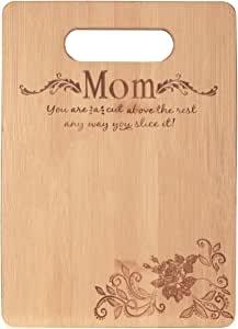 Bamboo Cutting Board-Mother's Day Gift Mom's Birthday Present for Mom From Daughter Kitchen Chopping Board Charcuterie Boards Small