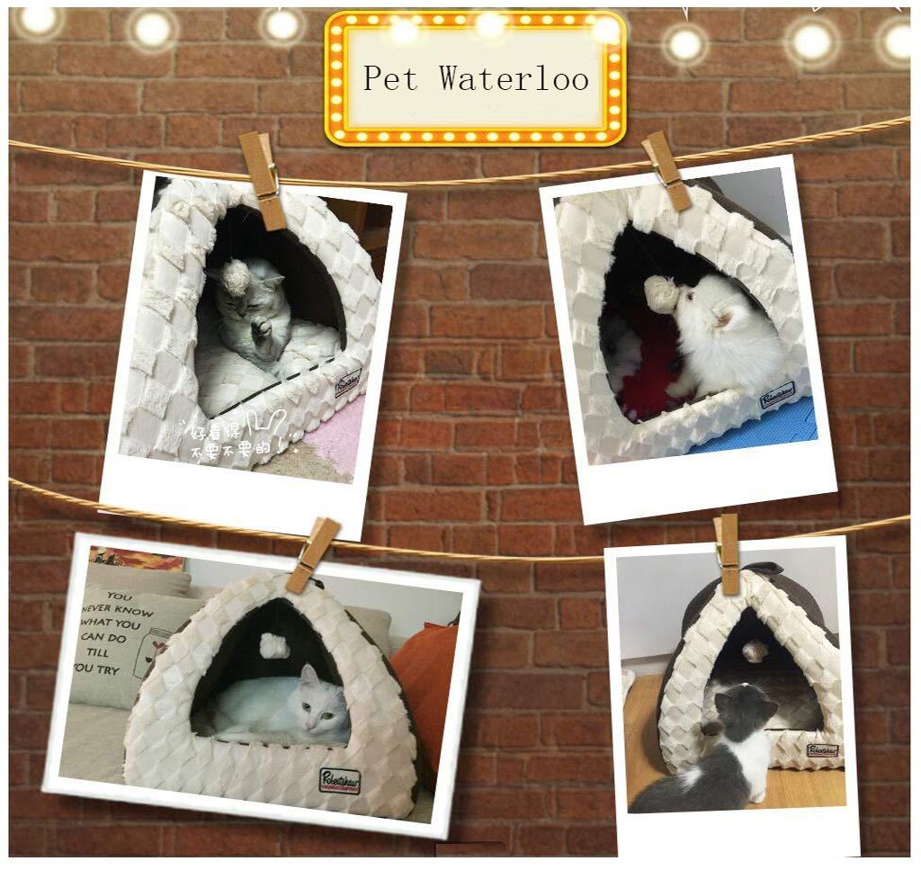 JiuErDP Caseta Perrera Lavable la casa del Perro la Arena para Gatos la casa del Perro la casa del Gato la casa del Gato Oso de Peluche yurta Invierno ...