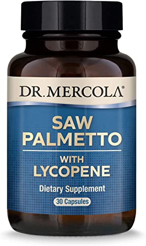 Dr. Mercola, Saw Palmetto with Lycopene, 30 Servings 30 Capsules , Non GMO, Soy-Free, Gluten Free