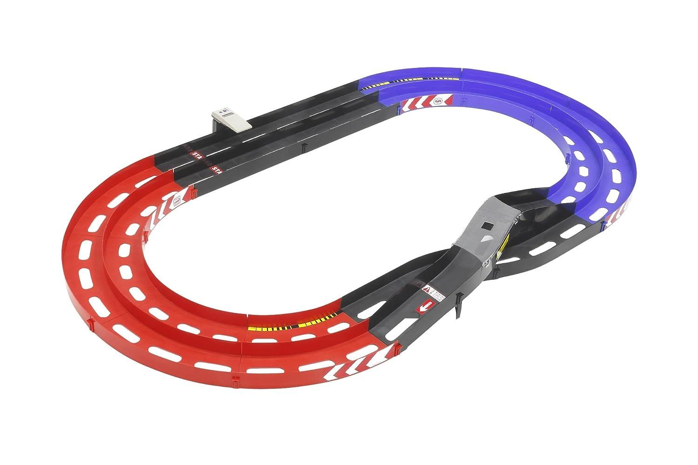 タミヤ ミニ四駆限定シリーズ オーバルホームサーキット 立体レーンチェンジ ラップタイマー付 (レッド/ブルー) B0043RSO22