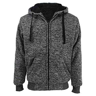 f97424138 Erin Garments Heavyweight Sherpa Lined Fleece Hoodie Sweatshirts for ...
