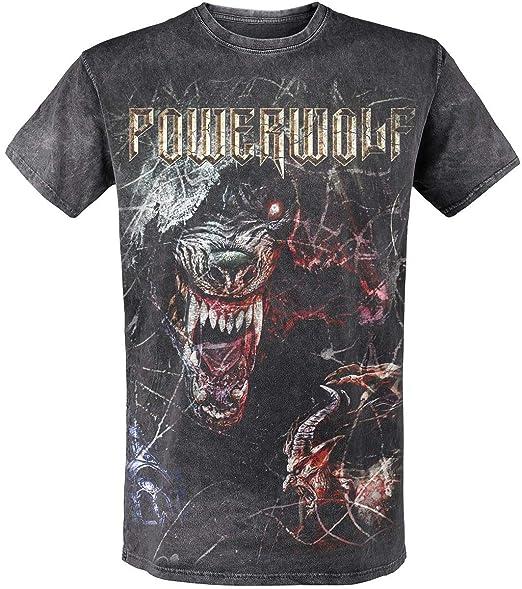 T Foncé Tsos Manches Gris Courtes Shirt Powerwolf S Wolf qEwxp0qv