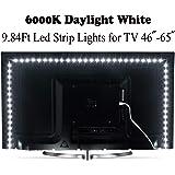 White Led Strip Lights, ViLSOM 3M/9.84Ft 6000K Daylight White 5V LED Tape Lights,SMD 2835 LEDs USB Powered TV Led…