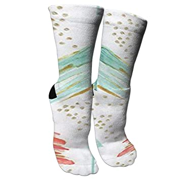 c3a50579e5fc Amazon.com: Colorful Autism Awareness Puzzle Pieces Casual Unisex Sock Knee  Long High Socks Sport Athletic Crew Socks One Size: Sports & Outdoors