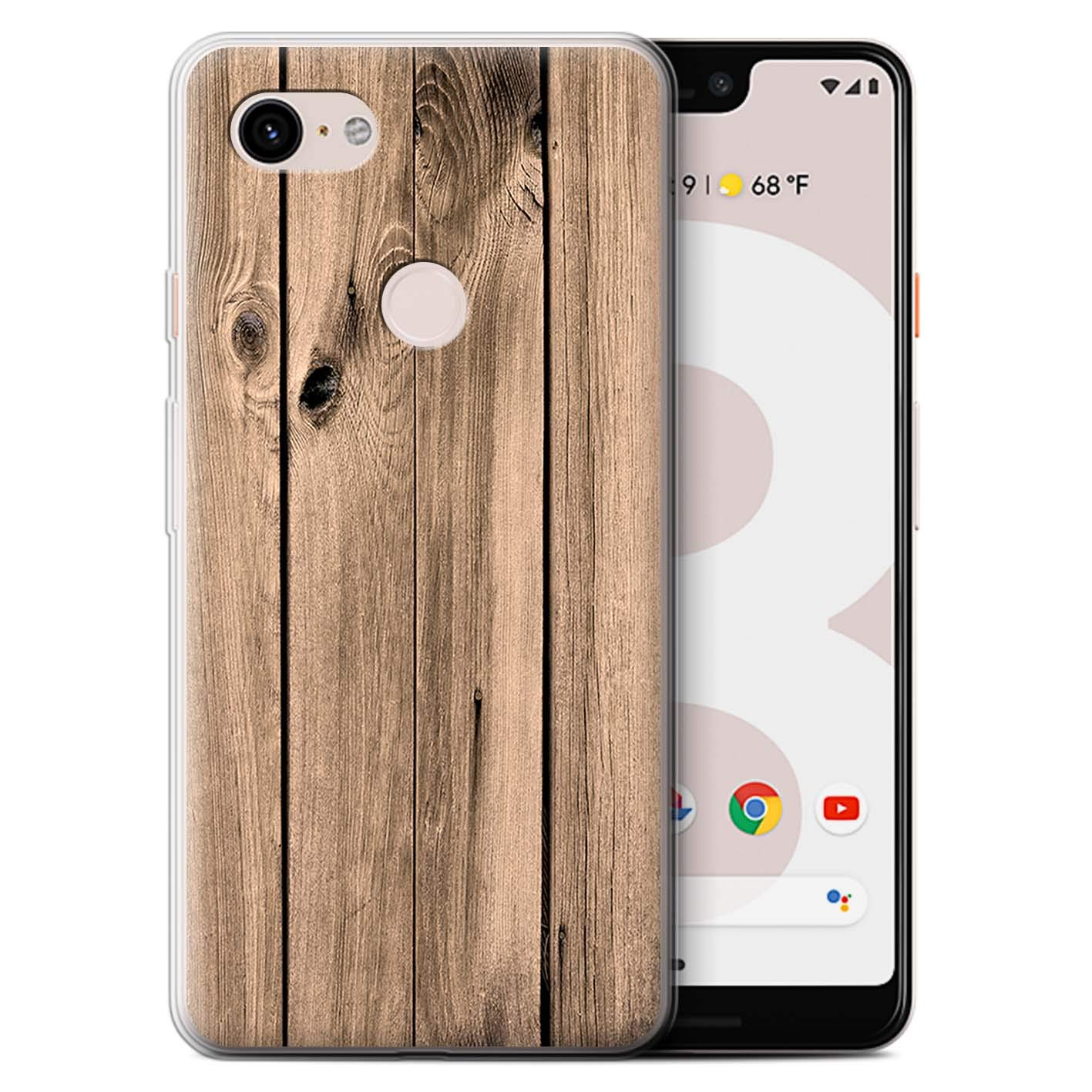 online store 3e4aa 36f03 STUFF4 Gel TPU Phone Case/Cover for Google Pixel 3 XL/Plank Design/Wood  Grain Effect/Pattern Collection