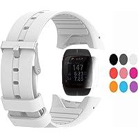 TUSITA Strap + Protecteur d'écran Polar M400 / M430, Bracelet en Silicone de Remplacement Accessoire GPS Polar