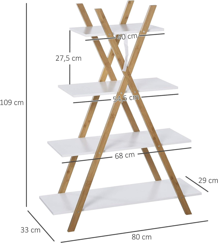 Treppenregal für Sitzplan und Candybar