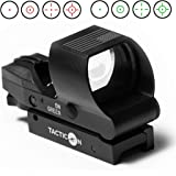 Predator V2 Reflex Sight | Combat Veteran Owned Company | 45 Degree Offset Mount Included | Reflex Rifle Optic with 4 Reticle Patterns | Adjustable Color Settings | Red Dot Green Dot Gun Scope