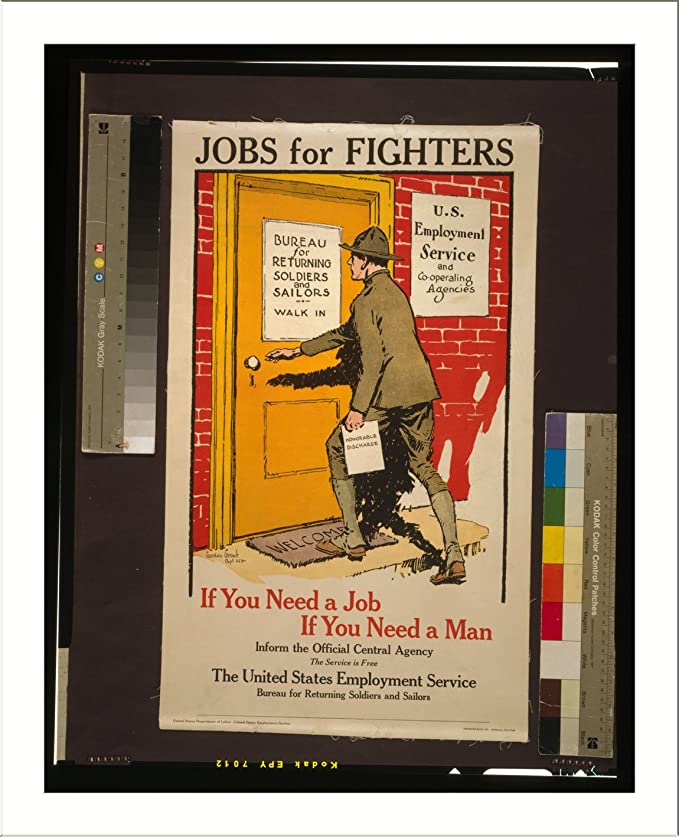 Amazon com: Historic Print (L): Jobs for fighters - If you need a