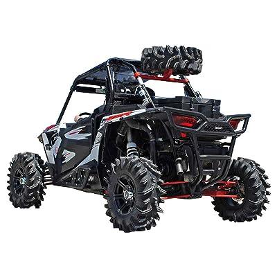 SuperATV Spare Tire Carrier for Polaris RZR XP 1000 / XP 4 1000 - Wrinkle Black: Automotive