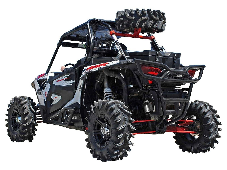 Polaris Rzr 1000 >> Superatv Spare Tire Carrier For Polaris Rzr Xp 1000 Xp 4 1000 Wrinkle Black