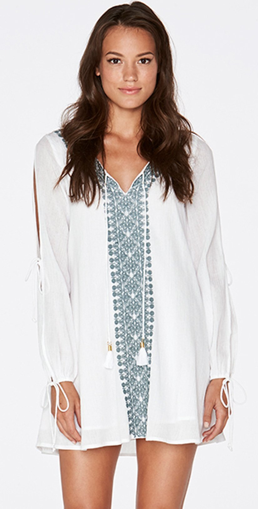 LSpace Women's Gold Coast Tunic, White/Slated Glass, Small by L*Space