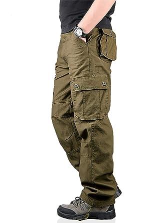Shop für neueste populärer Stil noch eine Chance TAIPOVE Cargohose Herren Arbeitshose Stretch Cargo Pants Loose Casual Hose  Viele Taschen Sport,Arbeit,Freizeithose