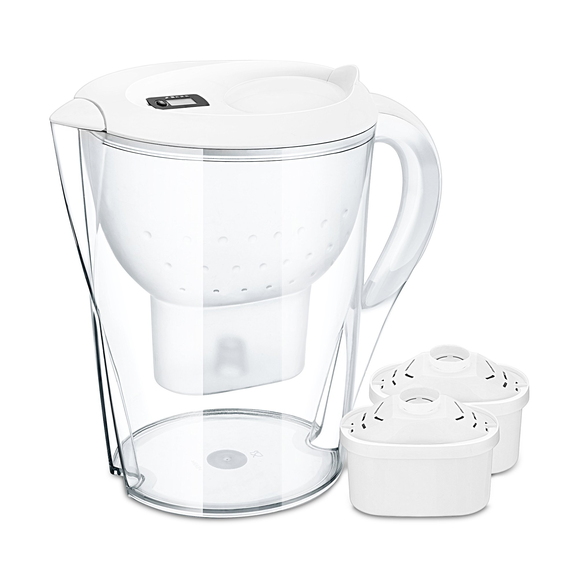 Stylife 14 Cups 3.5 L Water Pitcher Alkaline Water Jug With 2 Power Protect Filters And Replace Indicator Function
