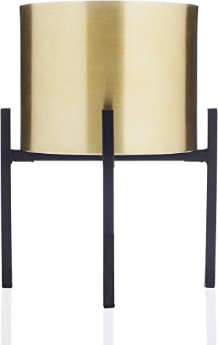 Scott Living Luxe Gold Metal Vase with Stand, 11 inch