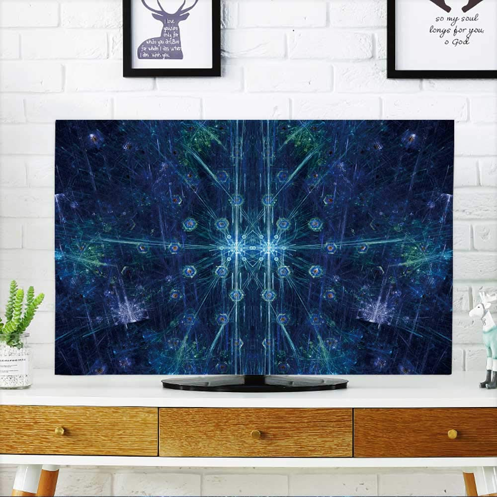 PRUNUS Television Protector Colorful Christmas Fractal,Computer generated Abstract Background Television Protector W30 x H50 INCH/TV 52''