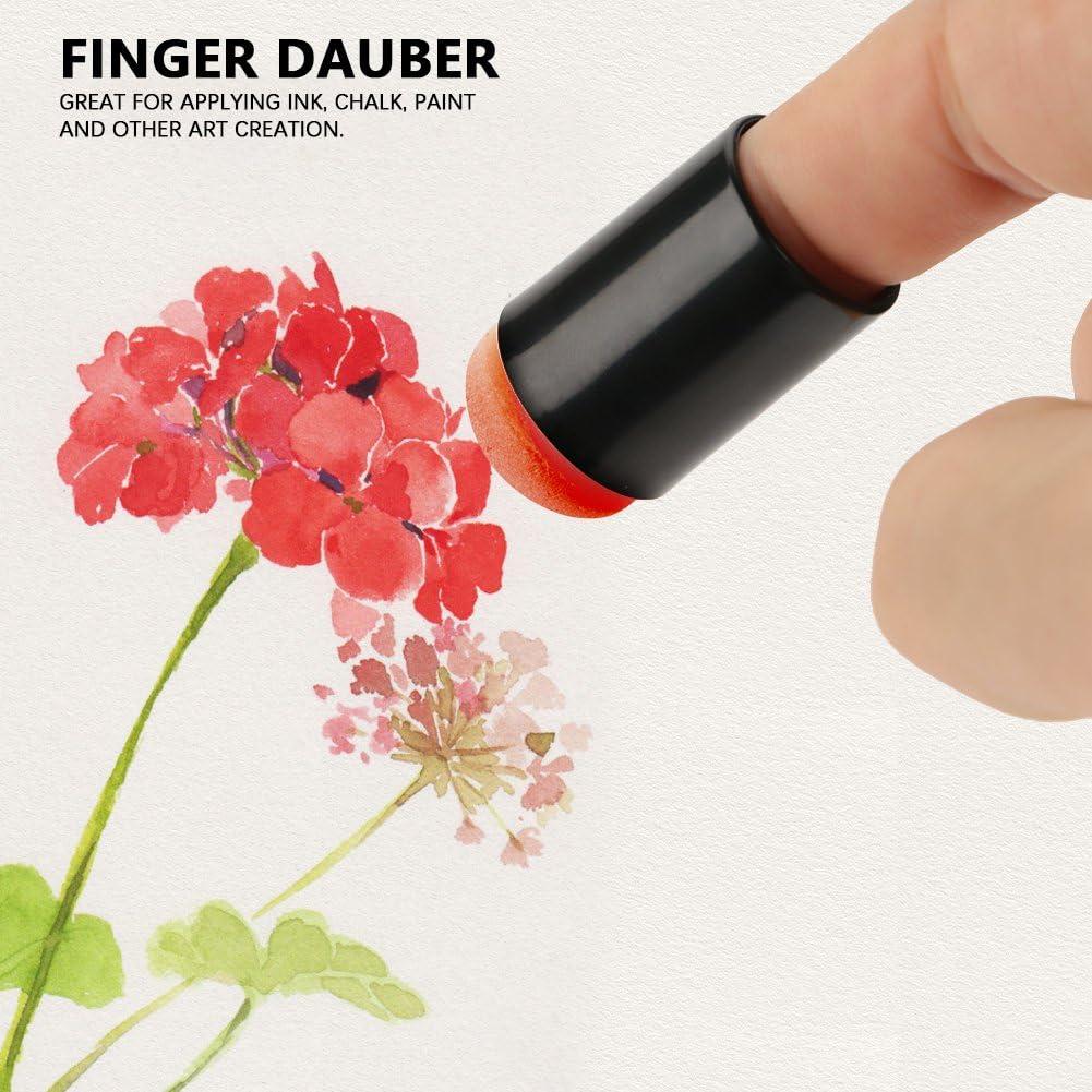 40/pcs//lot /éponge doigt Daubers en mousse avec bo/îte doigt Peinture Craft Lot Fingerpaint Dessin /éponge en mousse doigt Craie dencre