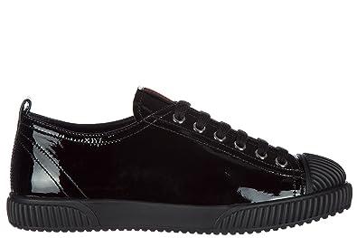 51f6d6355bd7c5 Prada Damenschuhe Turnschuhe Damen Leder Schuhe Sneakers Nappa Sport  Schwarz EU 40 3E5876OYGF002