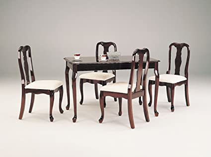 queen anne dining set furniture acme queen anne cherry dining set piece amazoncom table