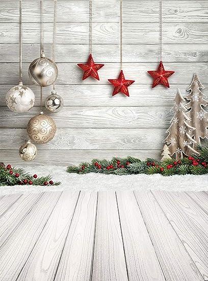 Amazon Com Niuxphoto Christmas Balls Backdrop 3x5ft Xmas