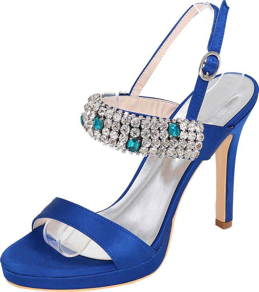 Vimedea Womens Sexy Stiletto Sandals Wedding Toe Bride Party Dress Open Toe Wedding 5915-34 B07DHG9SPH 8 B(M) US|Blue 76012d