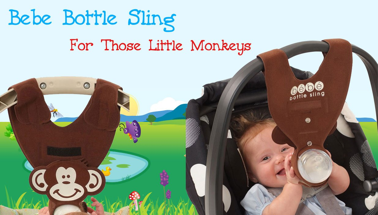 Amazon Brown Monkey Baby Bottle Holder For Hands Free Feeding By Bebe Sling LLC