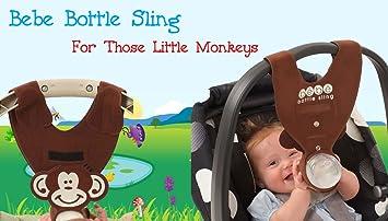 Amazon Com Brown Monkey Baby Bottle Holder For Hands Free Bottle