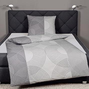 Janine Design Seersucker Bettwäsche Tango 2411 08 Silber 135x200 Cm