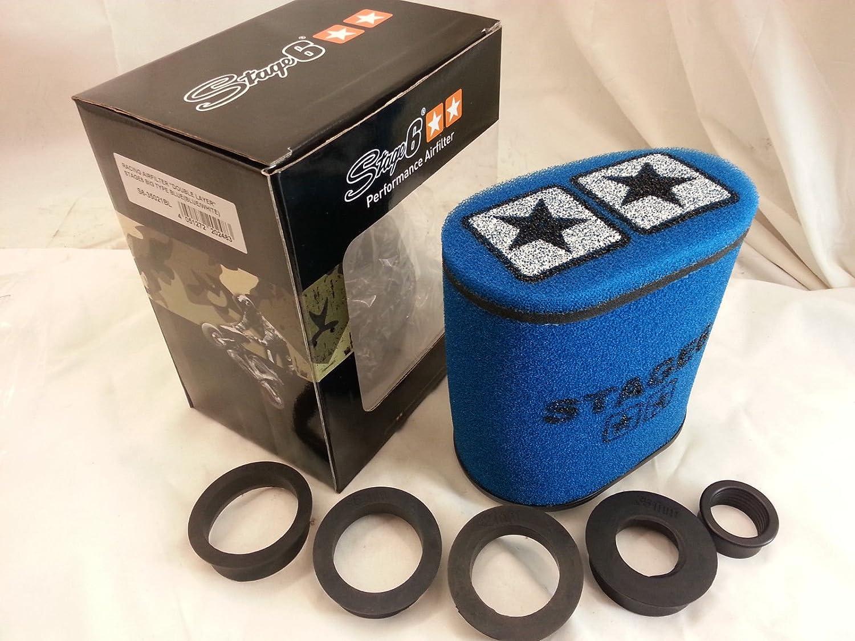 Racingluftfilter S6 35021bl Stage6 Gross Double Layer Gross Airbox Blau 28mm 35mm 42mm 45mm 49mm 55mm Anschluss Auto