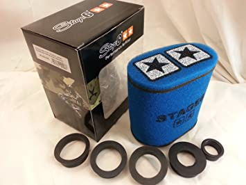 Jinling gluft Filtro Stage6Grande, de Doble Capa Airbox Azul, 28mm + 35mm + 42mm + 45mm + 49mm + 55mm Conector