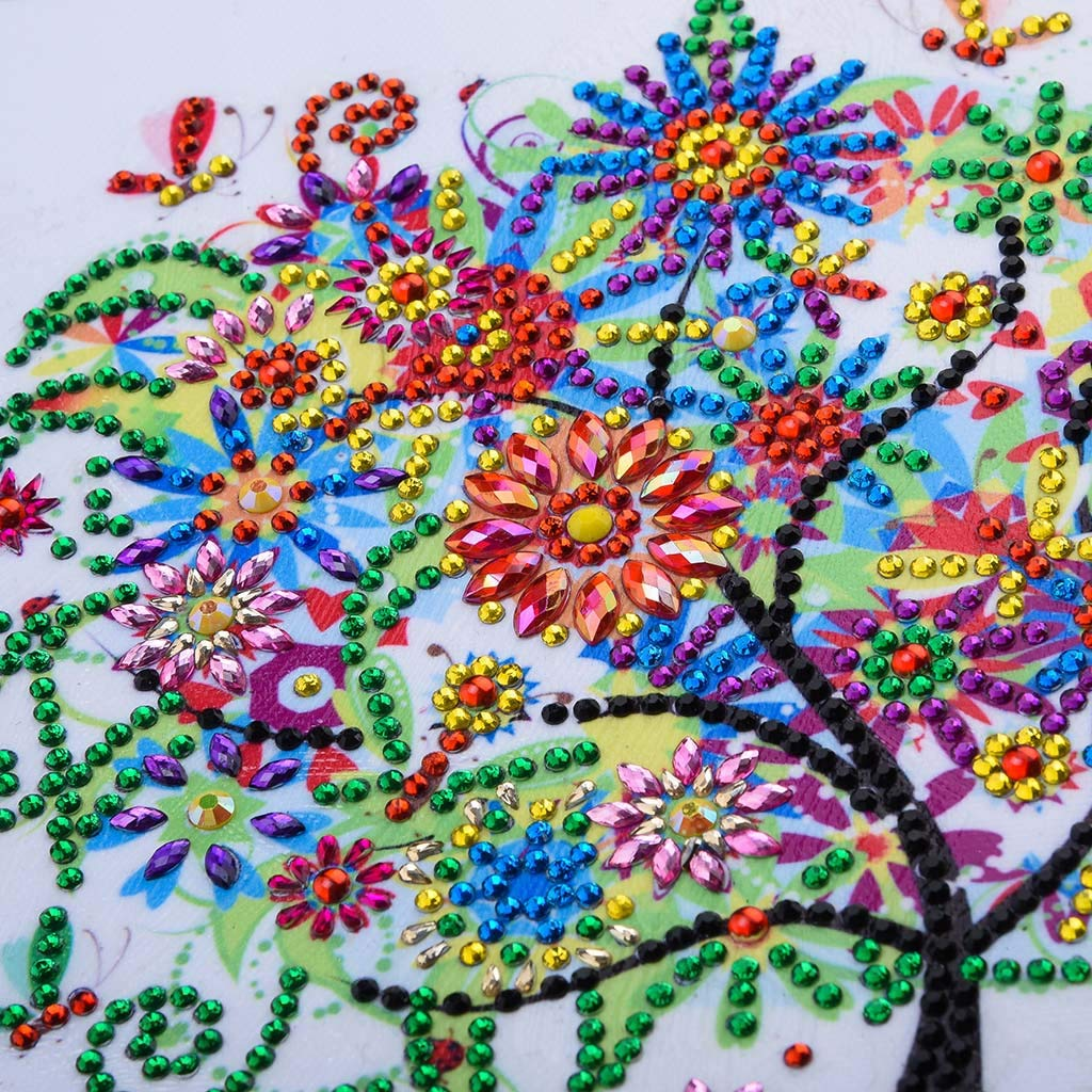 Four Season Tree Special Shaped Diamond Paintings Rhinestone Embroidery Cross Stitch Arts Craft Canvas Wall Decor for Sofa Background Home Decor NIHAI DIY 5D Diamond Painting Kit