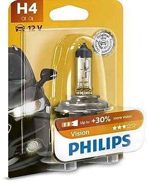 Philips 12342PRB1 Vision - Bombilla H4 para faros delanteros (12 V, 60 - 55 W): Amazon.es: Belleza