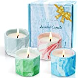 SCENTORINI Scented Candles, Soy Wax Candles Gift Set, Marble Porcelain Cup Aromatherapy Candles for Mother's Day, Birthday, C