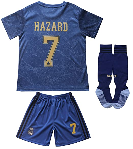 Amazon.com: SecenMerch 2019/2020 New Hazard # 7 Real Madrid ...