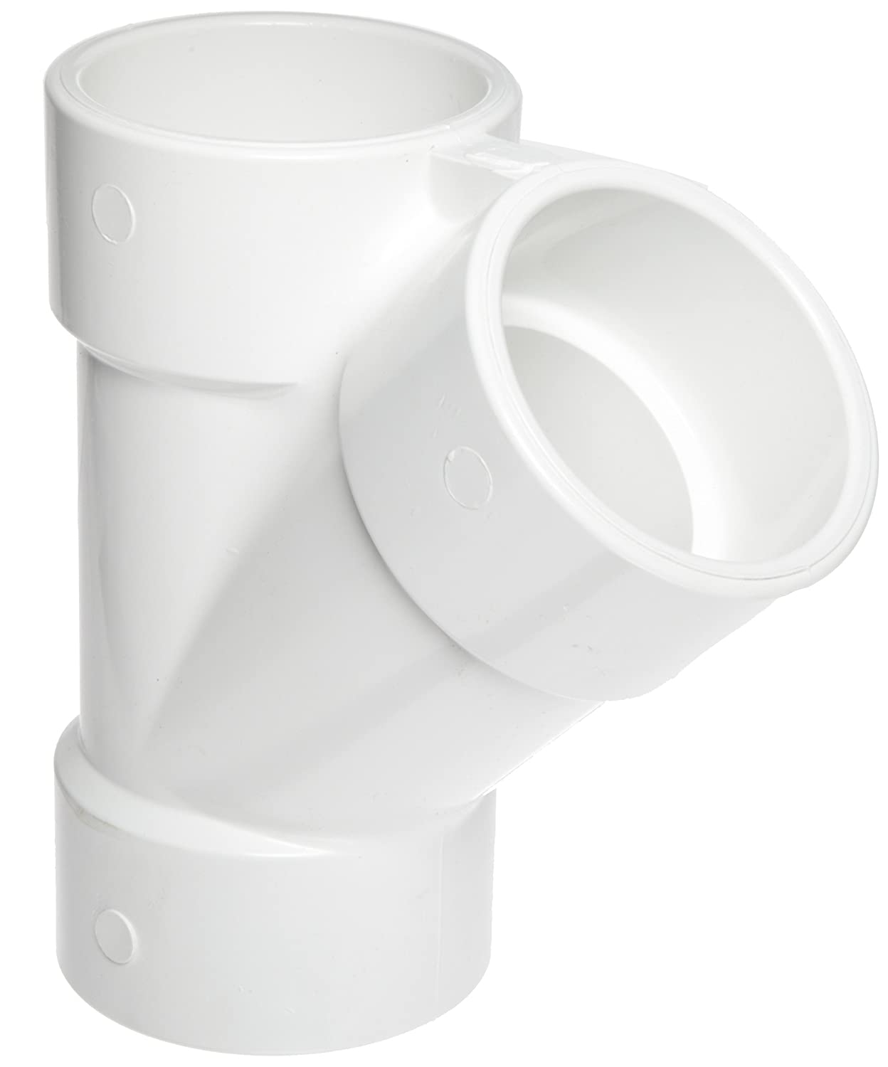 Spears 475 Series PVC Pipe Fitting, Wye, Schedule 40, 2 Socket 2 Socket Spears Manufacturing 475-020